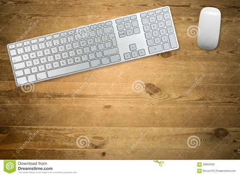 Keyboard And Mouse Table For by Keyboard And Mouse On A Wooden Table Top Stock Photo