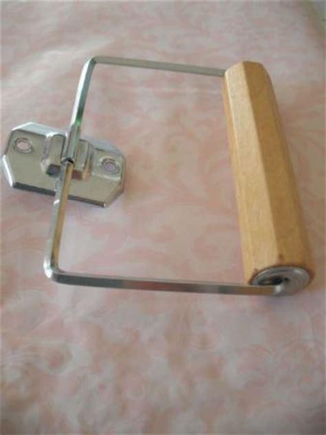 wooden toilet paper roller vtg 1950s nos chrome toilet paper tissue holder autoyre