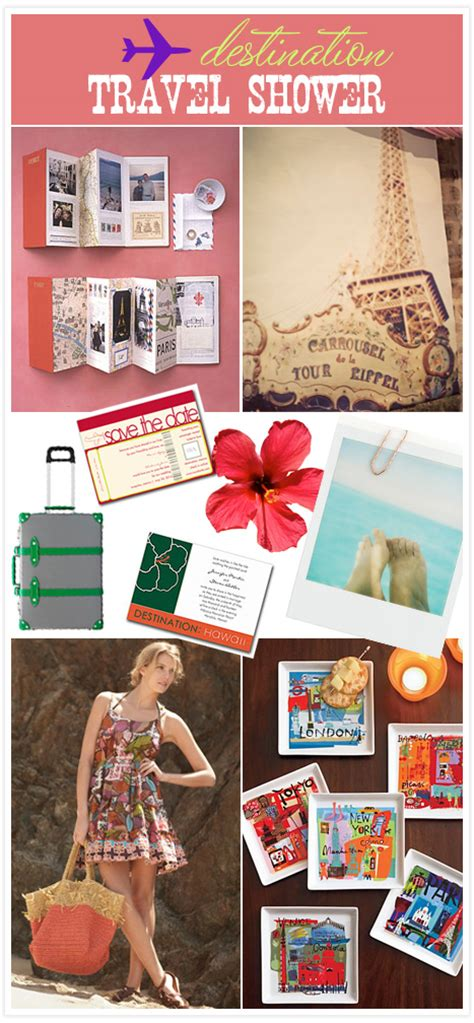 Travel Themed Bridal Shower by Gift Ideas For A Travel Themed Briday Shower Just B Cause