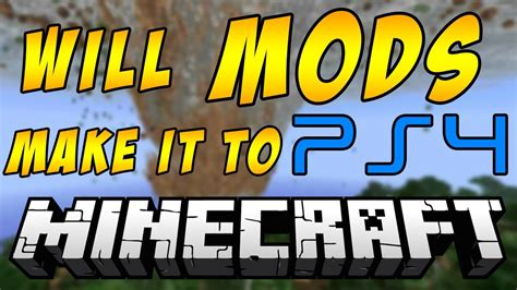 mod in minecraft ps4 will there be mods on minecraft ps4 edition youtube