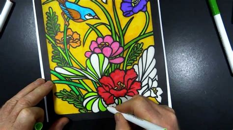 stained glass coloring book stained glass coloring book 1