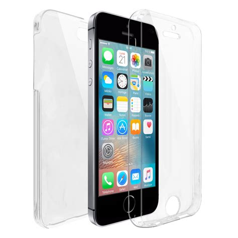 coque apple iphone se 5 5s int 233 grale gel defense 360 176 transparente