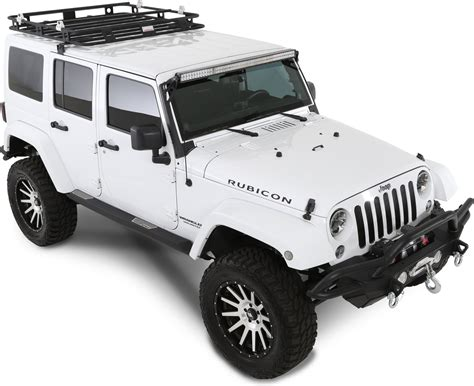 jeep roof rack smittybilt 45454 defender roof rack for 07 17 jeep