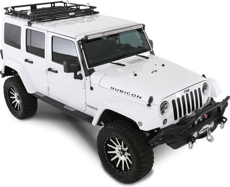 Roof Racks For Jeeps by Smittybilt 45454 Defender Roof Rack For 07 17 Wrangler Quadratec
