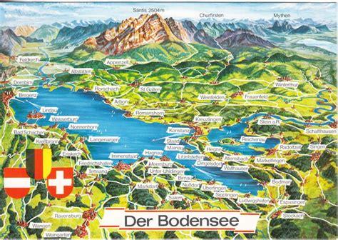 Brief B5 Schweiz Deutschland ak bodensee landkarte gro 223 format karte deutschland