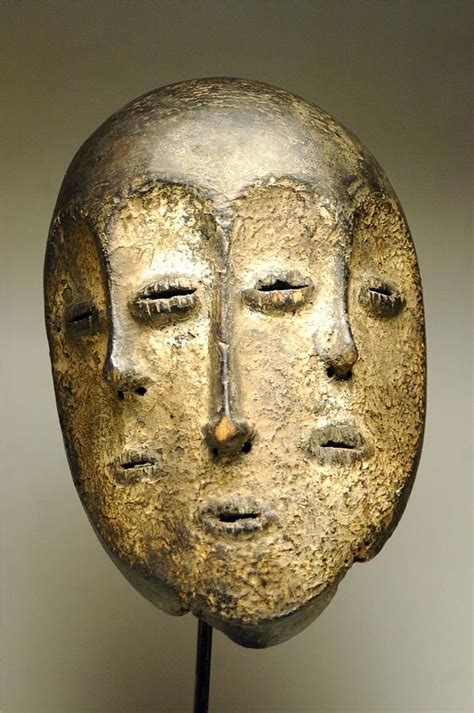 african masks africa mask from the lega people of dr congo wood