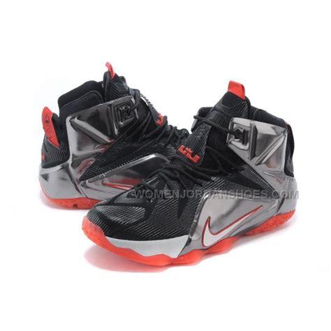 lebron basketball shoes sale cheap nike lebron 12 black silver basketball shoes for
