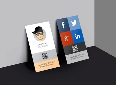 free design a card free vertical business card design template mock up psd