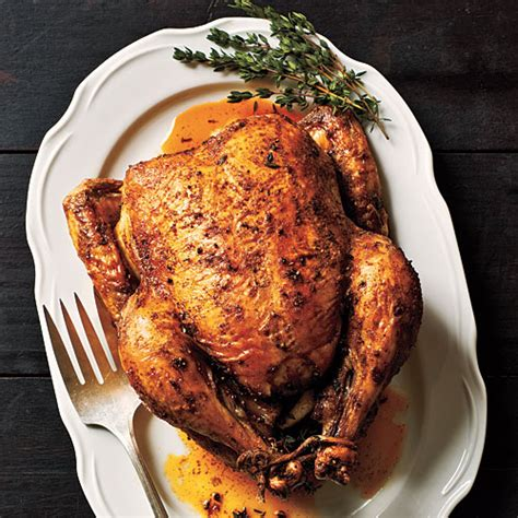 roasted whole chicken how to roast chicken cooking light