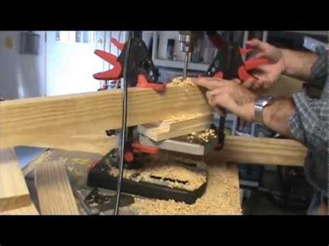 drilling bench dog holes drilling bench dog holes youtube
