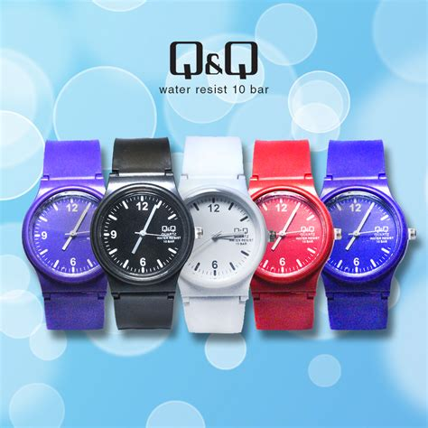 Q Q Digital Rubber A 5 Warna jam tangan qq casual unisex watches type casual fashion