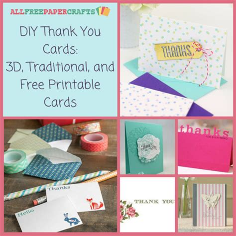 make a thank you card for free and print diy thank you cards 27 3d traditional and free