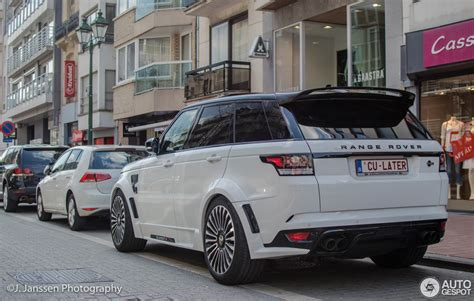 orange range rover svr land rover mansory range rover sport svr 17 april 2016