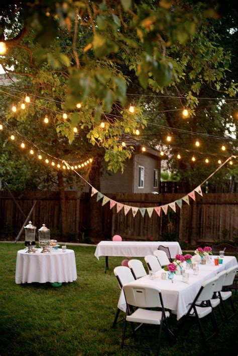 Backyard Birthday Fun Pink Hydrangeas Polka Dot Napkins Backyard Graduation Ideas