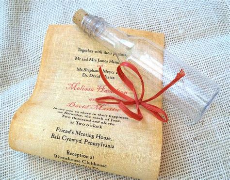wedding invite message in a bottle message in a bottle wedding invitation sle 2266605