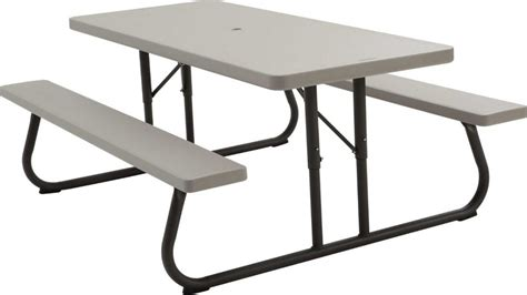 Lifetime 22119 6 Folding Picnic Table Bench In Putty