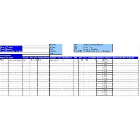 sle project tracking sheet with explanation on how to