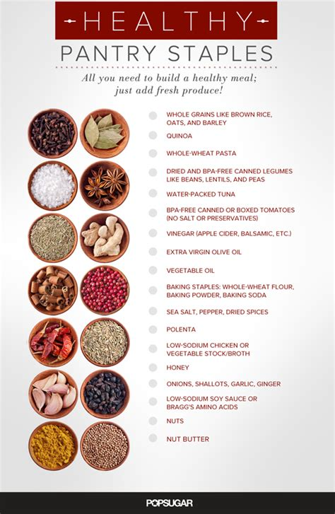 basic healthy pantry items popsugar fitness