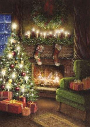 christmas   fireplace fine art print  dbk art