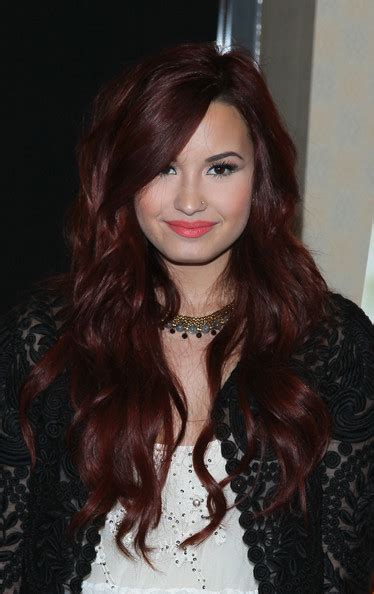 demi hair color demi lovato s flowing waves at a seventeen cover