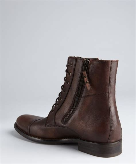 kenneth cole reaction hit boot kenneth cole reaction brown leather hit lace up