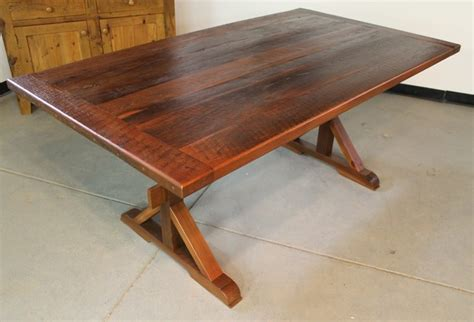 French Country Outdoor Lighting - very rustic x base trestle table rustic dining tables boston by ecustomfinishes