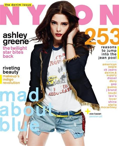 ashley greene magazine cover ashley greene covers nylon magazine august 2012 issue