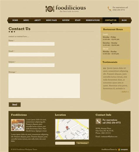 website templates for contact us pages contact us form template