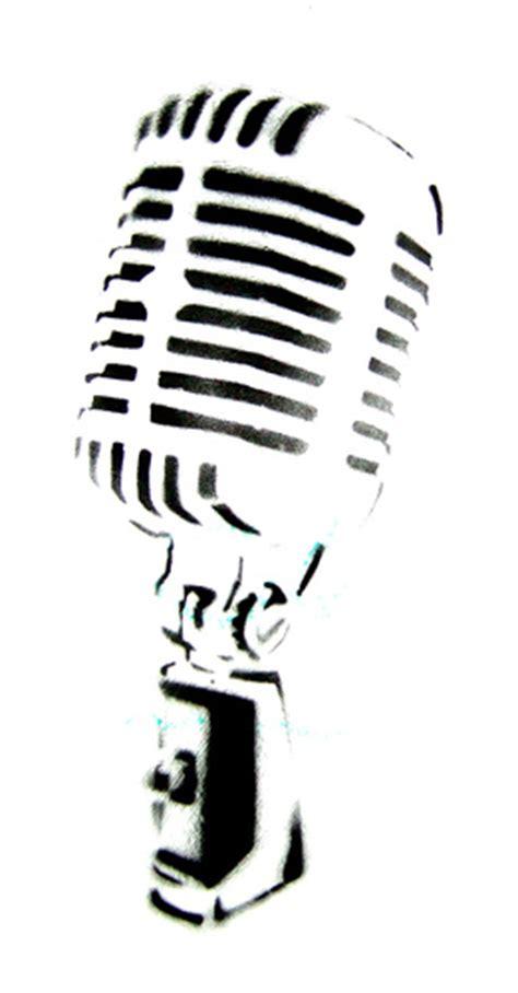 microphone tattoo stencil on the mic a shure 55 sh ii perhaps david niddrie