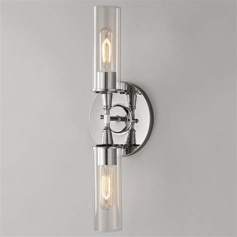 double bullet glass wall sconce shades  light