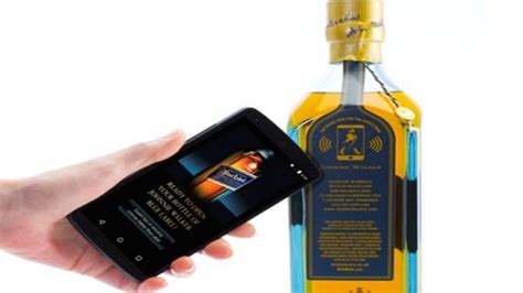 Sticker Mobil Stiker Mobil Johnnie Walker For Winshield this whisky bottle talks to your smartphone