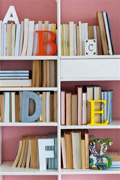 back to front typography bookshelf ideas and classroom