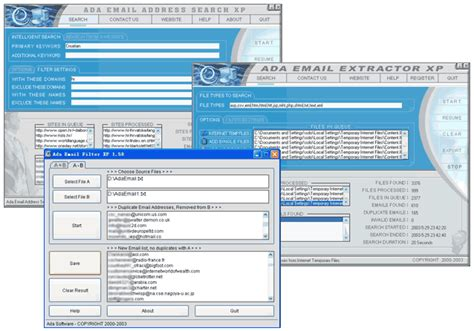 Email Searching Software Free Ada Email Search Xp Golden Bundle E Mail Software Software