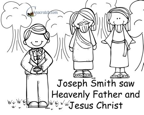 Coloring Page Joseph Smith Vision by Vision Clipart Clipground