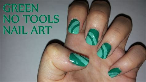 nail art tutorial easy no tools no tools nail art tutorial green no tools nail art youtube