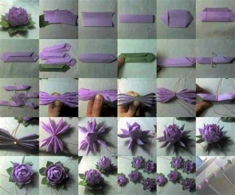 How To Make Lotus Flower From Paper - how to make a paper lotus flower origami