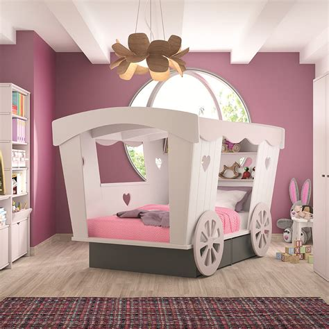 childrens princess bedroom furniture carriage kids bed by mathy by bols single beds cuckooland