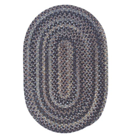 braided oval rugs home decorators collection cage graphite 7 ft x 9 ft oval braided area rug oh98r084x108 the