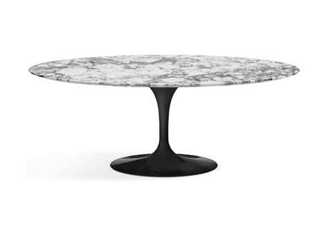awesome saarinen table basse oval de marbre knoll milia shop table basse pied central  pied
