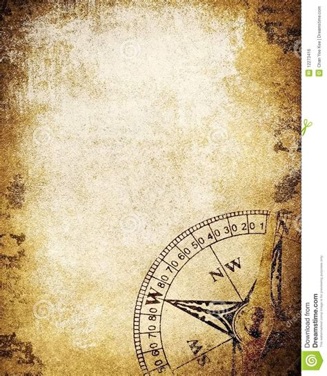 How To Make A Paper Compass - vintage paper with compass royalty free stock image