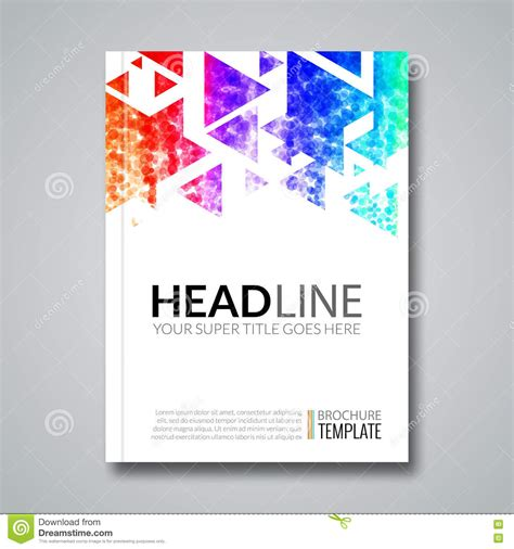 design background cover cover report colorful geometric prospectus design