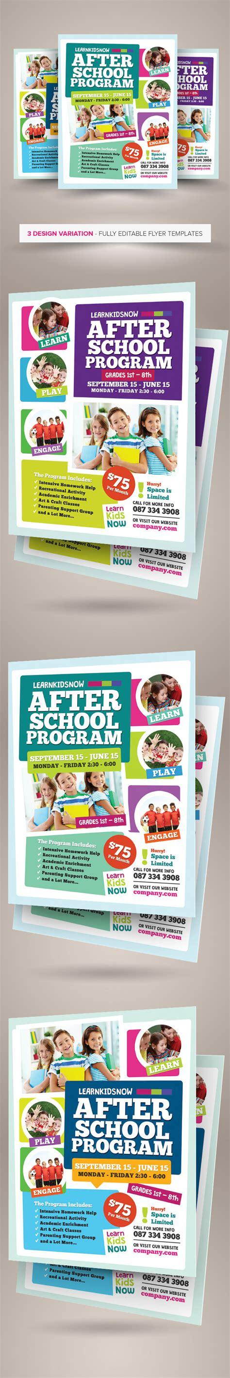 After School Program Flyer Templates On Behance Curriculum Flyer Template