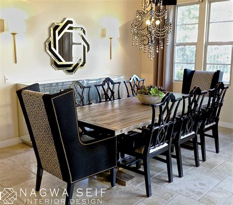 wing chair dining table nagwa seif interior design wing chair