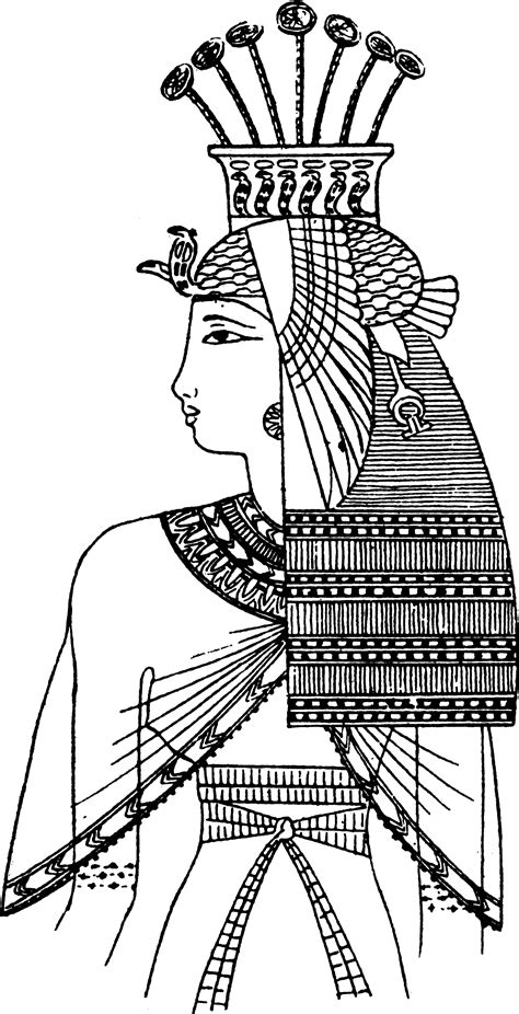 egyptian coloring book pages ancient egyptian diachronous costuming pinterest