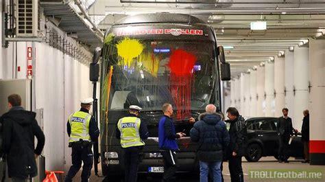 leverkusen fans attack rb leipzig team bus  paint