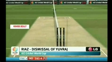 how to swing the ball in cricket wahab s swinging yorker bowls yuvraj for golden duck