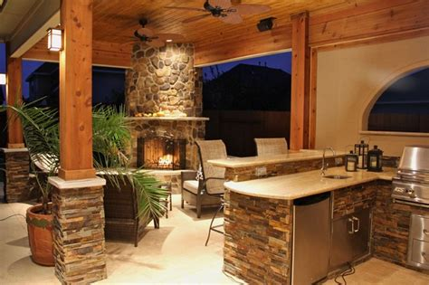 outdoor kitchens and fireplaces contemporary patio