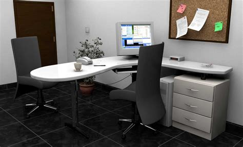 Modern Home Office Desk Furniture With L Shape Design Modern Home Office Desk Furniture