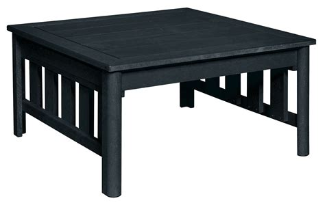 stratford black square cocktail table from cr plastic