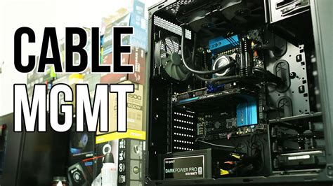how to cable manage a how to cable management youtube